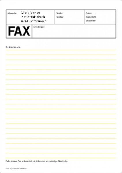 faxblatt 312